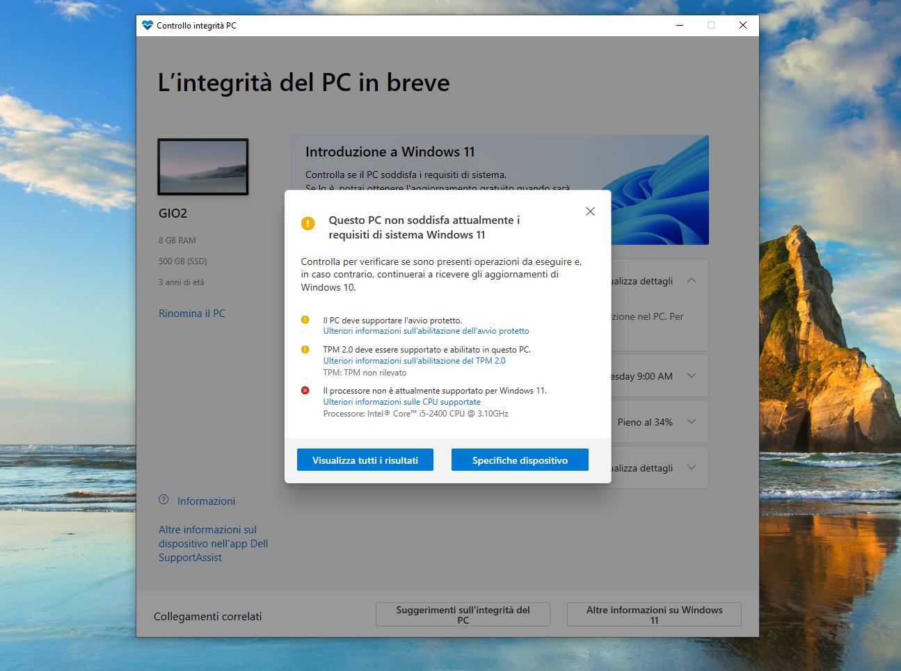 Ecco l'utility aggiornata per verificare se il PC è compatibile con Windows 11